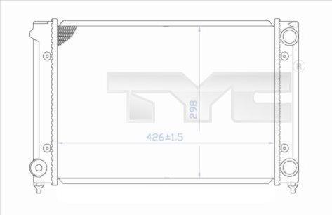 Radiateur, refroidissement du moteur - TYC - 737-0018