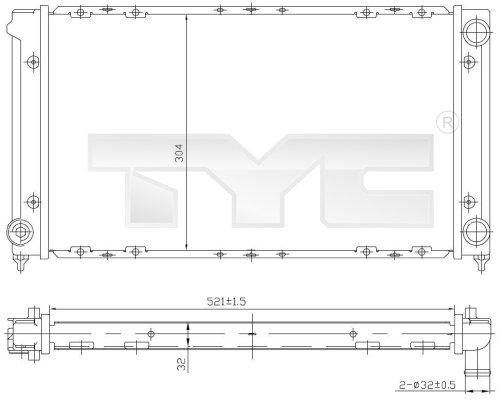 Radiateur, refroidissement du moteur - TYC - 737-0019
