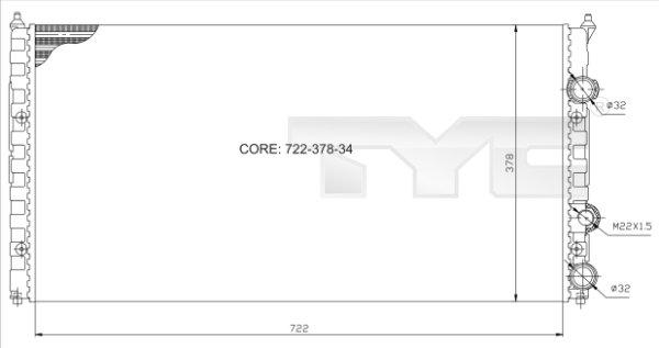 Radiateur, refroidissement du moteur - TYC - 737-0021