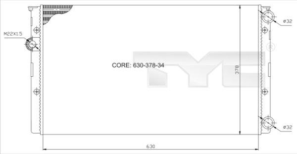 Radiateur, refroidissement du moteur - TCE - 99-737-0027