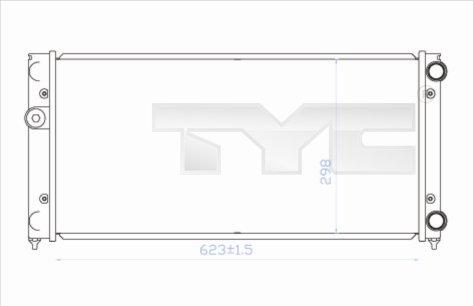 Radiateur, refroidissement du moteur - TYC - 737-0028