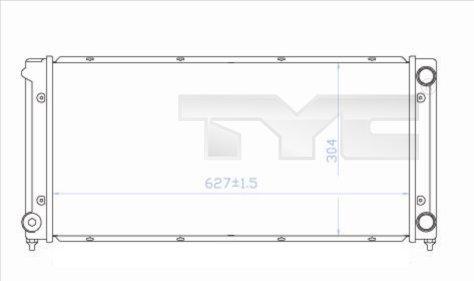 Radiateur, refroidissement du moteur - TCE - 99-737-0034