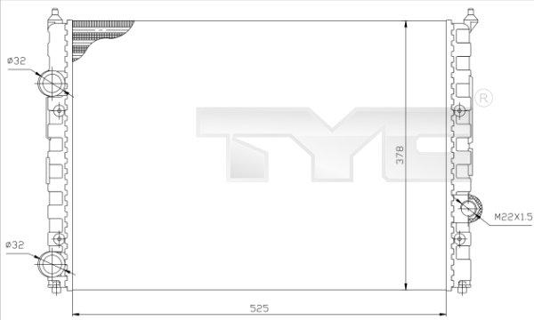 Radiateur, refroidissement du moteur - TCE - 99-737-0036