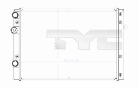 Radiateur, refroidissement du moteur - TYC - 737-0038