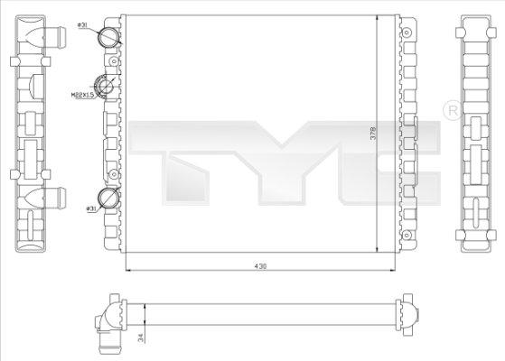 Radiateur, refroidissement du moteur - TCE - 99-737-0040