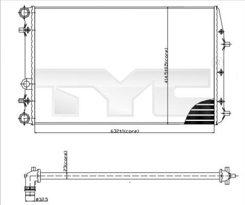 Radiateur, refroidissement du moteur - TCE - 99-737-0041