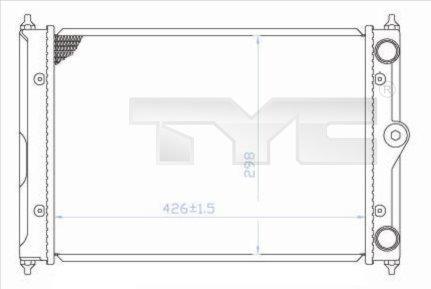 Radiateur, refroidissement du moteur - TYC - 737-0044