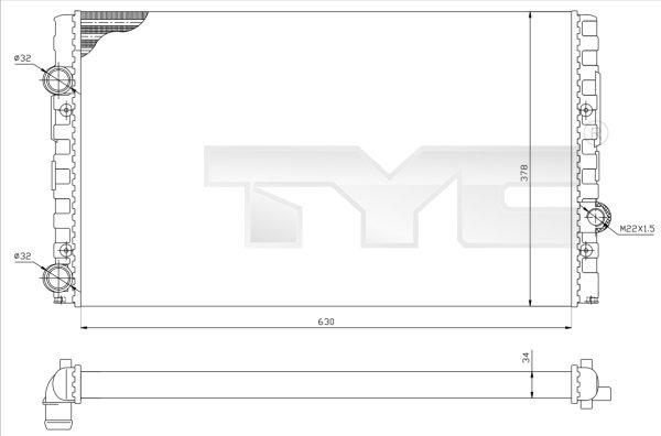 Radiateur, refroidissement du moteur - TYC - 737-0051-R