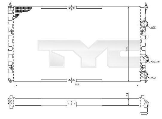 Radiateur, refroidissement du moteur - TYC - 737-0057