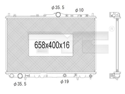 Radiateur, refroidissement du moteur - TCE - 99-738-1002