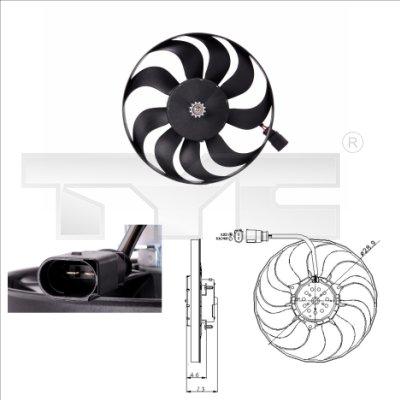 Ventilateur, refroidissement du moteur - TYC - 802-0001