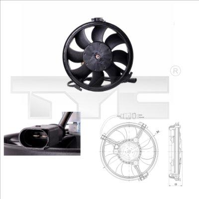 Ventilateur, refroidissement du moteur - TYC - 802-0002