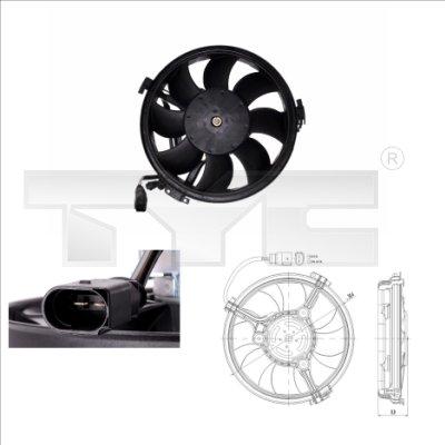 Ventilateur, refroidissement du moteur - TYC - 802-0003