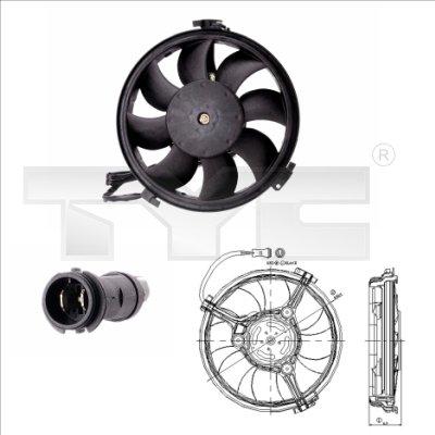 Ventilateur, refroidissement du moteur - TYC - 802-0004