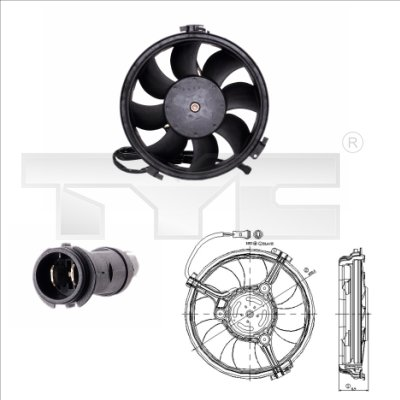 Ventilateur, refroidissement du moteur - TYC - 802-0005