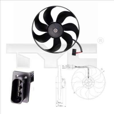 Ventilateur, refroidissement du moteur - TCE - 99-802-0009