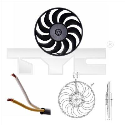 Ventilateur, refroidissement du moteur - TYC - 802-0051