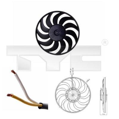 Ventilateur, refroidissement du moteur - TYC - 802-0052