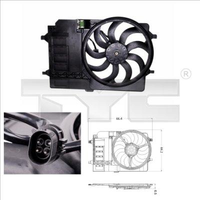 Ventilateur, refroidissement du moteur - TYC - 803-0001