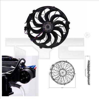 Ventilateur, refroidissement du moteur - TYC - 803-0003