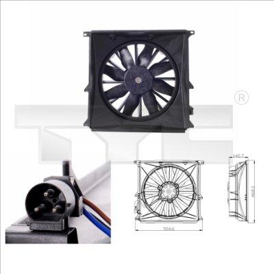 Ventilateur, refroidissement du moteur - TYC - 803-0004