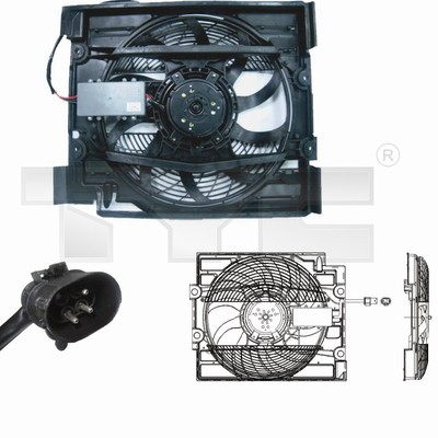 Ventilateur, refroidissement du moteur - TYC - 803-0008