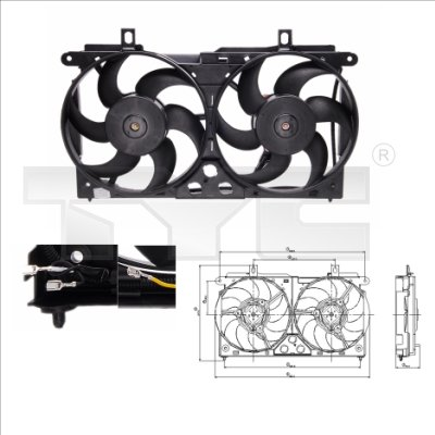 Ventilateur, refroidissement du moteur - TYC - 805-0002