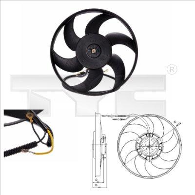 Ventilateur, refroidissement du moteur - TYC - 805-0003