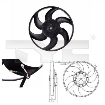 Ventilateur, refroidissement du moteur - TCE - 99-805-0004