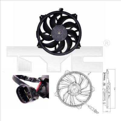 Ventilateur, refroidissement du moteur - TYC - 805-0006