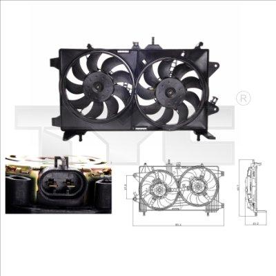 Ventilateur, refroidissement du moteur - TYC - 809-0001