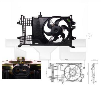 Ventilateur, refroidissement du moteur - TYC - 809-0003