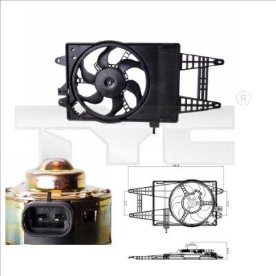 Ventilateur, refroidissement du moteur - TYC - 809-0004