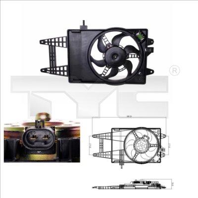 Ventilateur, refroidissement du moteur - TYC - 809-0006