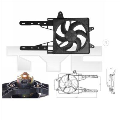 Ventilateur, refroidissement du moteur - TYC - 809-0007