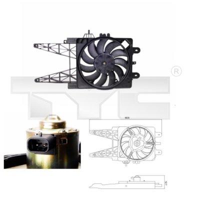 Ventilateur, refroidissement du moteur - TYC - 809-0008