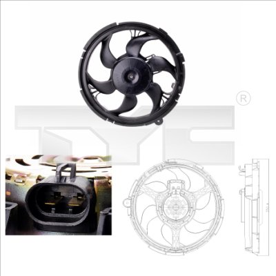 Ventilateur, refroidissement du moteur - TYC - 809-0010