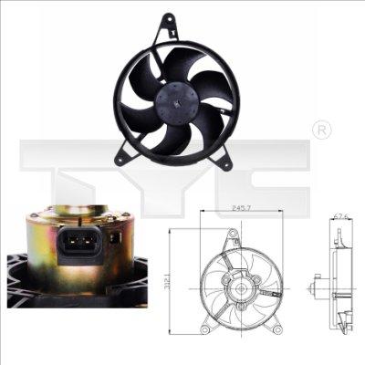 Ventilateur, refroidissement du moteur - TYC - 809-0011