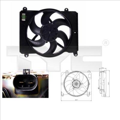 Ventilateur, refroidissement du moteur - TYC - 809-0014