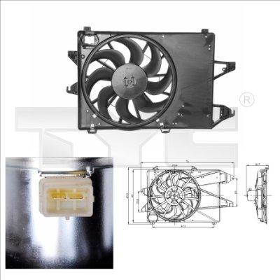 Ventilateur, refroidissement du moteur - TYC - 810-0001