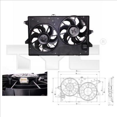 Ventilateur, refroidissement du moteur - TYC - 810-0002