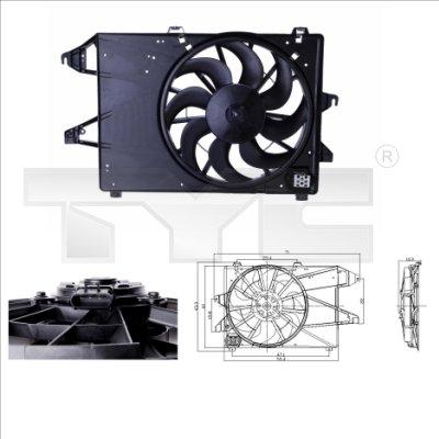 Ventilateur, refroidissement du moteur - TYC - 810-0004