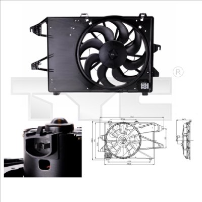Ventilateur, refroidissement du moteur - TCE - 99-810-0006