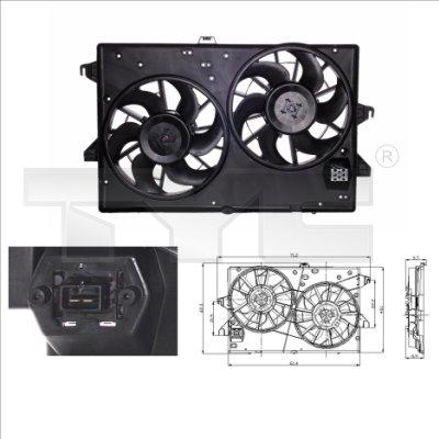 Ventilateur, refroidissement du moteur - TYC - 810-0007