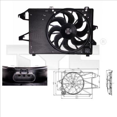 Ventilateur, refroidissement du moteur - TYC - 810-0008
