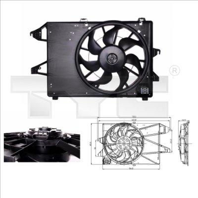 Ventilateur, refroidissement du moteur - TYC - 810-0009