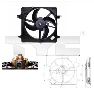 Ventilateur, refroidissement du moteur - TYC - 810-0013