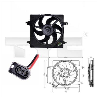 Ventilateur, refroidissement du moteur - TYC - 810-0014