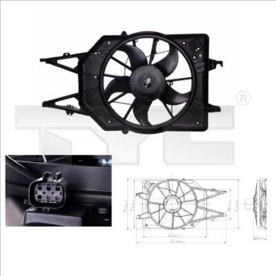 Ventilateur, refroidissement du moteur - TYC - 810-0015