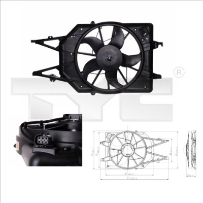 ventilateur refroidissement du moteur ford focus a trois volumes 2 131cv 1999 2004 amapiece. Black Bedroom Furniture Sets. Home Design Ideas